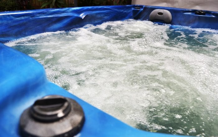 Image of working hot tub